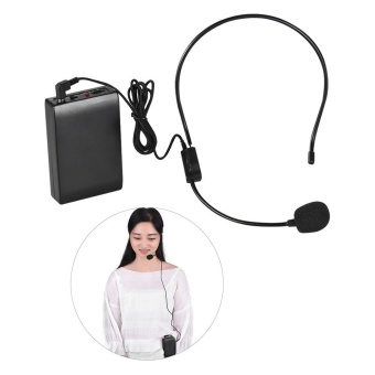 harga Portable FM Wireless Microphone Headset System Voice Amplifier1/4in Output Plug with Bodypack Transmitter Receiver for TeacherSpeaker Yoga Instructor Presenter Lecturer Conference SpeechPromotion - intl Lazada.co.id