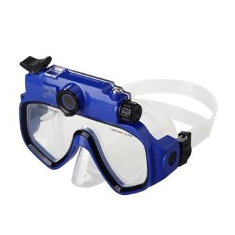 Portable HD Camera Underwater Sport Camera Diving Mask Camera SportDV Camcorder AVI Video Tempered Glass Lenses Blue