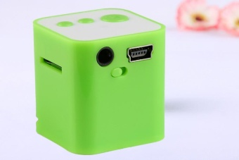 Portable USB MP3 Mini Music Player Support Micro SD TF Card Music Green - intl