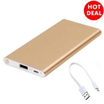 Gambar Produk Rinci Power Bank Super Slim Alumunium Anodized 5500mAh + Free Samsung Handfree Young Terkini