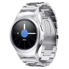 Premium Stainless Steel Band Tali dengan Konektor untuk Gear S2 R720 R730 Smart Watch-Intl