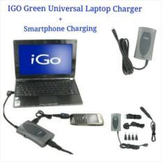 promo IGO Universal Laptop Charger + USB Charging Port For Smartphone original