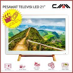 PROMO TV MONITOR LED 21 Inch Wide - CMM - Slim - Fitur Lengkap - Putih
