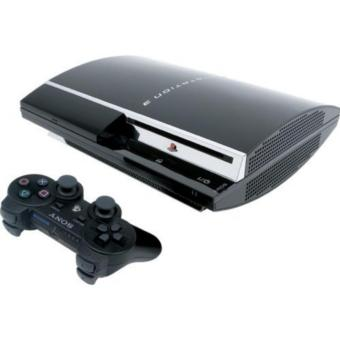 ps3 fat hdd 120gb + stik wirelles + game terbaru