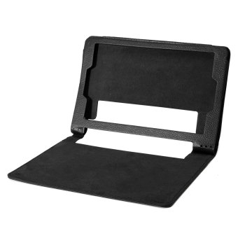 PU kulit sampul belakang stan magnetik untuk Lenovo Yoga Tab 3 8 850F 8 inci tablet (Hitam)