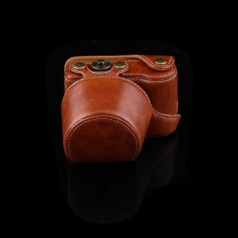 PU Leather Camera Case Bag With Strap For Sony A5000/A5100/NEX3NAnd 16-50mm Camera Lens(brown) - intl