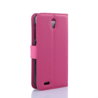 PU Leather Protective Cover for Lenovo A859 (Rose)