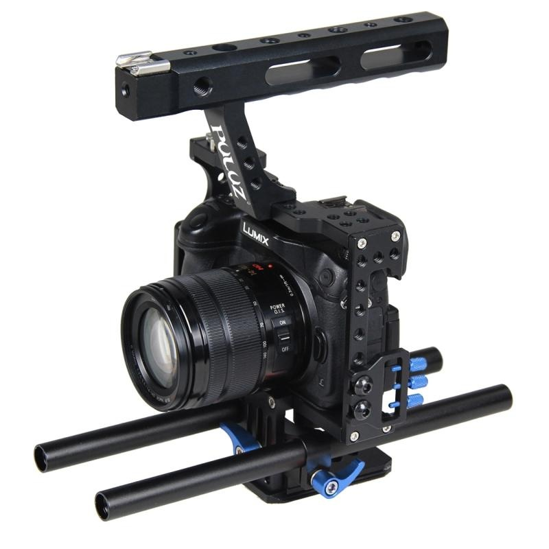 ... PULUZ Handle Video Camera Cage Steadicam Stabilizer for Sony A7 andA7S and A7R and A7R II ...