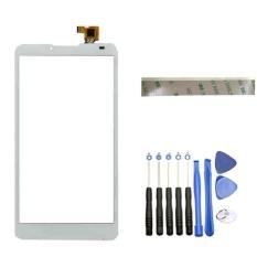 (Putih) Baru untuk Lenovo A889 A880 Layar Sentuh Digitizer Aksesoris + 3 M Tape + Membuka Alat Perbaikan + Lem