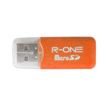 R-One High Speed USB 2.0 Micro SD T-Flash TF Memory Card Reader -Orange