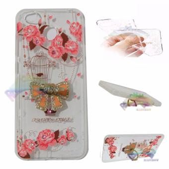 Rainbow Case Xiaomi Redmi 4X Softshell Animasi Paint + CrystalPhone Holder Ring / Soft Case Ring