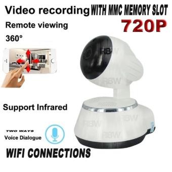 Rainbow Cctv IP Camera Smart Net CT V380 Q6 Wifi HD720 1Mega pixelP2P CCTV Camera Cctv - Putih