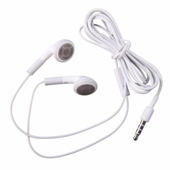 Harga Rainbow Headset Stereo For iPhone 2G / 3G/ 3S 4G/ 4S Handsfree / Earphone For All Phone Model Stereo - Putih