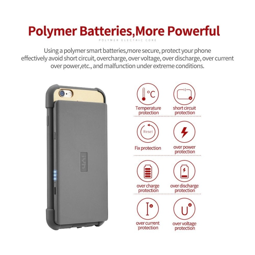 Rainbow - Powerbank / Power Bank 3000mAh Magic Wireless Charging Receiver Phone Case For Apple iPhone6