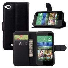 [Ready Stock] Szyhome Ponsel Case untuk HTC Desire 320 Mewah Retro Dompet Kulit Flip Cover Hitam Biru Coklat Hijau Pink Ungu Merah Rose Putih Warna Solid Shell-Intl