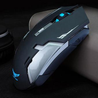 Rechargeable Wireless USB Gaming Mouse 1600 DPI - Black