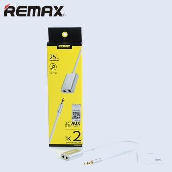Remax 3.5mm 1 Male to 2 Female Plug Audio AUX Splitter AdapterCable For Headphone Headset Earphone Phone Speaker - intl - 5