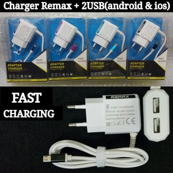 Remax Travel Charger Micro Usb With 2 Usb Port Fast ChargerUniversal