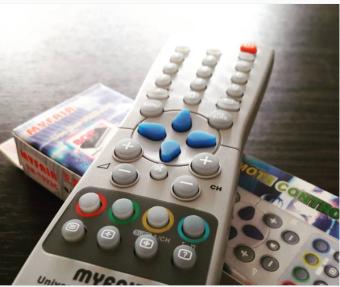 Remote TV Phillips model TV Tabung