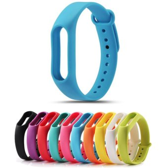 Replace Strap for Xiaomi Mi Band 2 Version MiBand 2 Silicone Wristbands for Mi Band 2 Smart Bracelet 10 Color for Xiao Mi Band 2 - intl