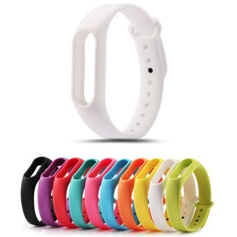Harga Replace Strap for Xiaomi Mi Band 2 Version MiBand 2 SiliconeWristbands for Mi Band 2 Smart Bracelet 10 Color for Xiao Mi Band 2- intl