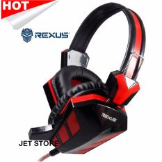Rexus Headphone Pro Gaming F22 - Merah