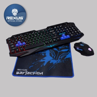 Rexus Keyboard Mouse Gaming Warfaction VR1 Combo