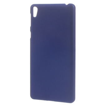 Rubberized Hard Plastic Back Phone Case for Sony Xperia E5 - Dark Blue - intl