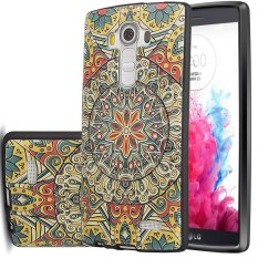 RUILEAN Soft TPU Case For LG G4 Totem Flower 3D Embossed PaintingSeries Protective Cover