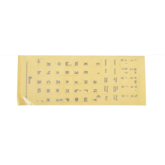Jual Russian Transparent Keyboard Stickers Letters For