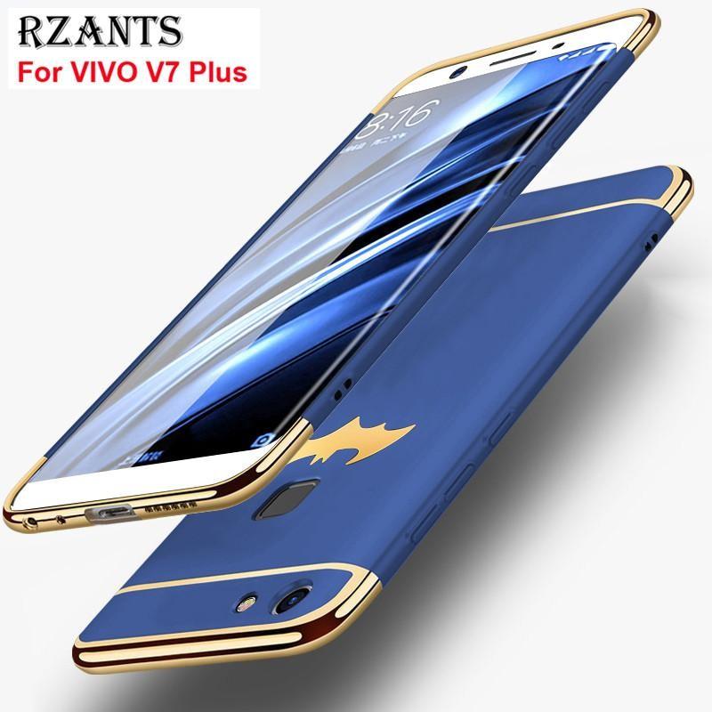 Rzants Case Vivo V7 Plus Cover Belakang Super Tipis Model Keras Tahan Banting Gaya Mewah