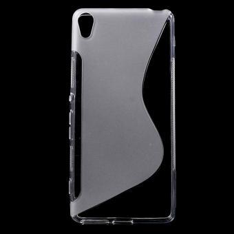 S bentuk TPU case penutup untuk Sony Xperia XA / XA Dual - transparan