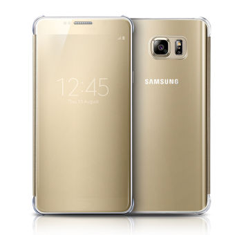 S-View Flip Cover Clear View Cover Case for Samsung Galaxy Note 5(Gold
