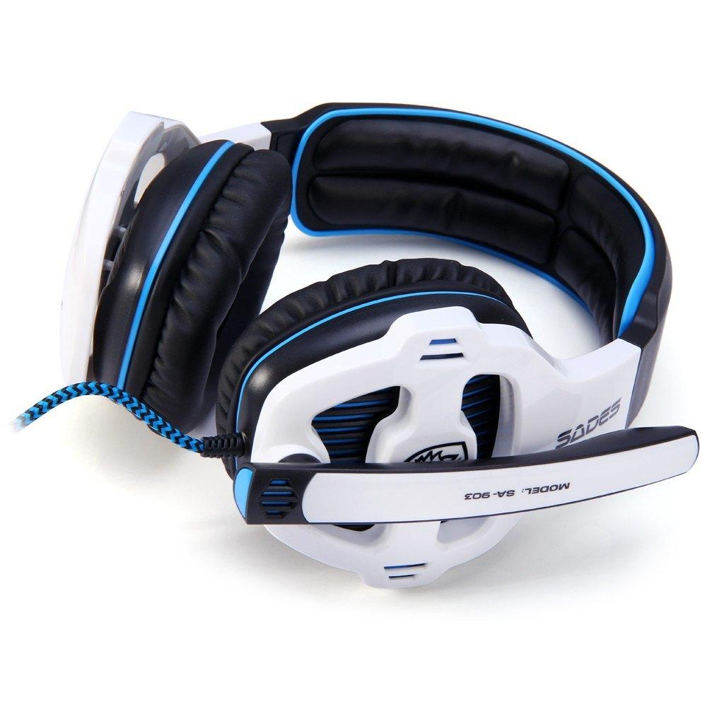 ... Sades SA 903 7.1 Surround Sound USB Headset Gaming dengan Volumemikrofon (putih) ...