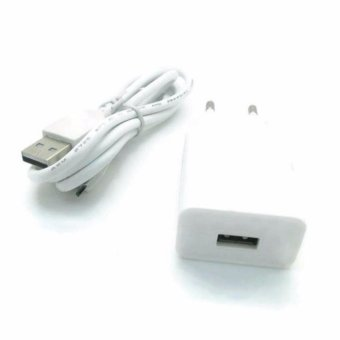 Safe Charger with Kabel USB for Vivo Y21 - Putih