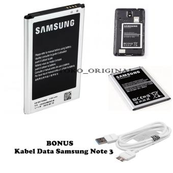 Samsung Baterai / Battery Galaxy Note 3 - 3200 mAh + Gratis SamsungKabel Data Note 3 / s5