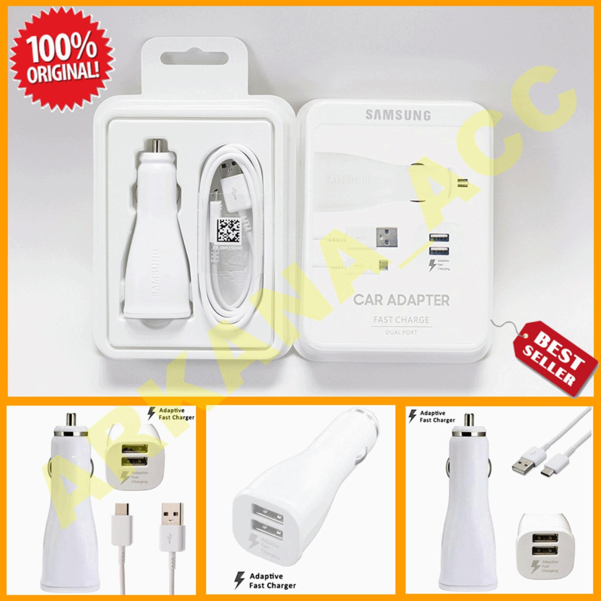 Hot Deals Samsung Car Charger Fast Charging Dual Usb Mobil Convertible Wireless Original Hitam New Generation