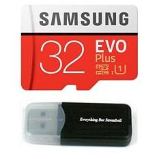 Samsung EVO Plus 32 GB MICROSDHC CLASS 10 UHS-1 Mobile Memory Card untuk Samsung Galaxy J3 J1 NXT Ace A9 A7 A5 A3 Tab A 7.0 E 8.0 View On7 On5 Z3 dengan Segalanya tapi Stromboli Pembaca Kartu Memori -Intl