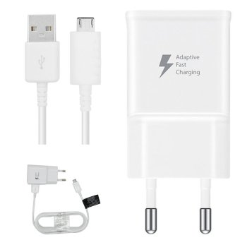 Samsung Fast Charger Tavel Charger 15W for Samsung S6 / S7 / Note 4/5 Original - Putih