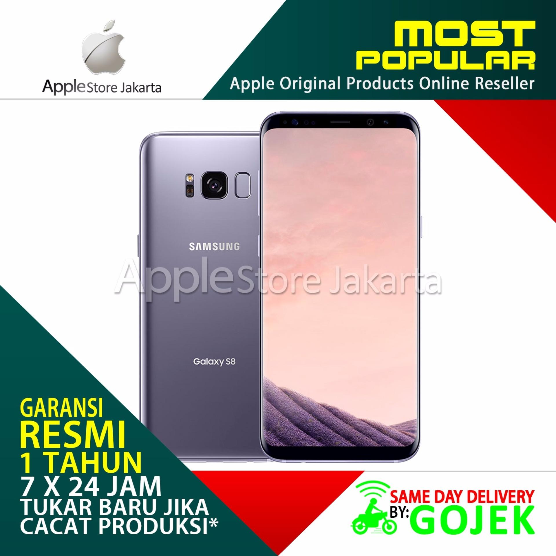 Samsung Galaxy S8 Smartphone Garansi Resmi Orchid Gray 64gb 4gb Dual Sein Plus 4g Lte