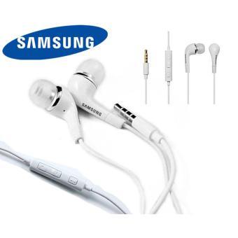 Samsung Headphone J5 Earphone Headset Original - putih / white