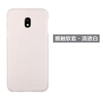 Samsung j3300/j3308 silikon transparan merek populer untuk pria dan wanita shell telepon set ponsel