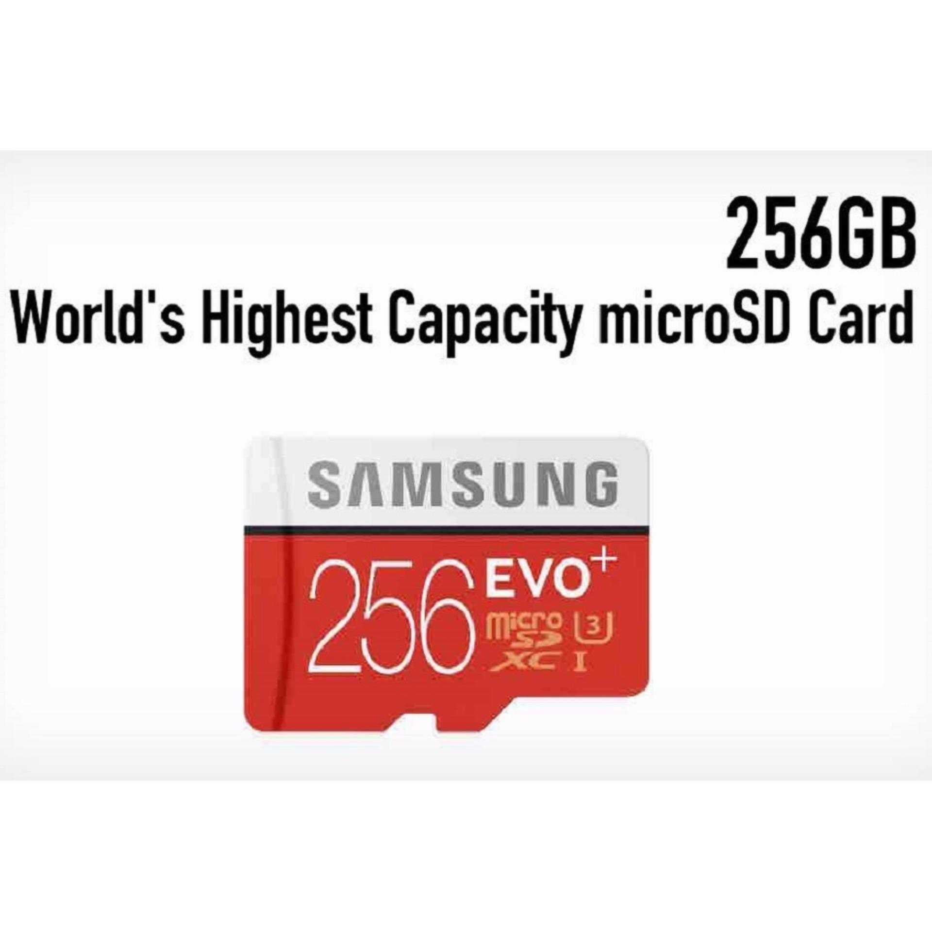 Samsung Memory Card MicroSDXC Evo Plus 256GB / 95MB/s with Adapter - Merah ...