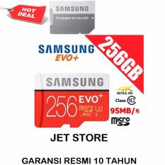 Samsung Memory Card MicroSDXC Evo Plus 256GB / 95MB/s with Adapter - Merah