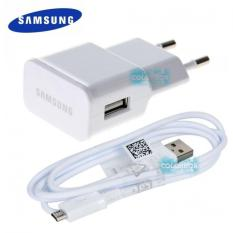 Samsung Original 100% Travel Adapter Charger Samsung S4/ J5 / J7 / G530 + Micro USB Cable Charger - Putih