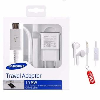 Samsung Original Travel Adapter Charger 10.6W Kabel Micro USB FreeHandsfree Samsung GH59 Jack 3,