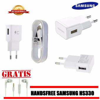 Samsung Original Travel Charger 15W Fast Charging For All SamsungGalaxy + GRATIS Handsfree Samsung HS330