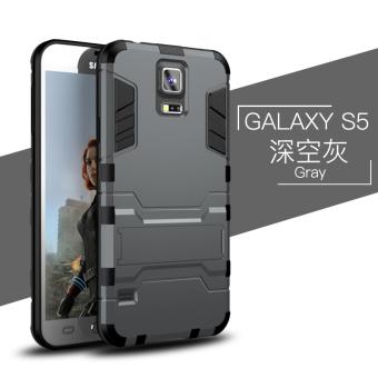 Samsung s5/s5/g9006v set ponsel dari silikon penurunan resistensi cangkang keras shell telepon