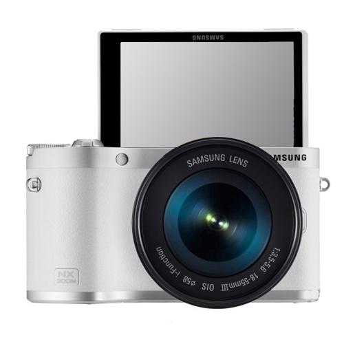 SAMSUNG SMART Digital kamera 20,3 megapiksel 50 Zoom optik NX300M +18-55 mm lensa - (putih) - International