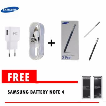 Samsung Travel Charger 15W Galaxy Note 4 Fast Charging Original +Samsung stylus note 4 Gratis battery note 4